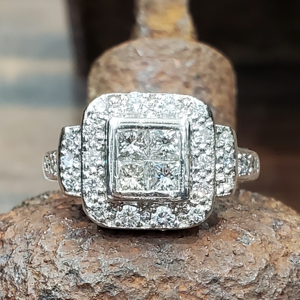 1.00ctw Platinum Diamond Ring   Dynasty Jewelry and Loan
